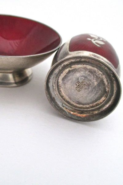 Volmer Bahner sterling & enamel salt & pepper