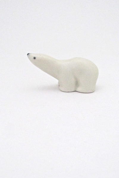 profiile Arabia Finland miniature matte glazed ceramic polar bear by Richard Lindh