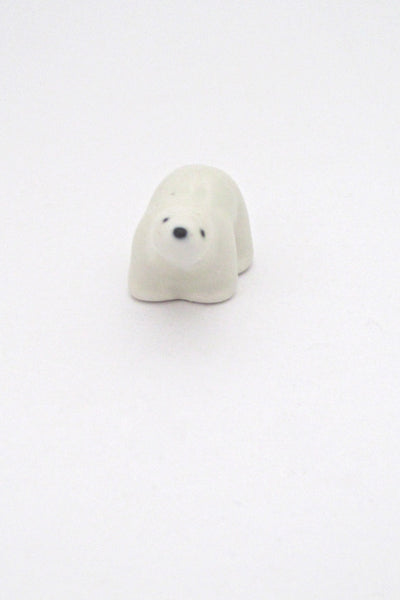 detail Arabia Finland miniature matte glazed ceramic polar bear by Richard Lindh