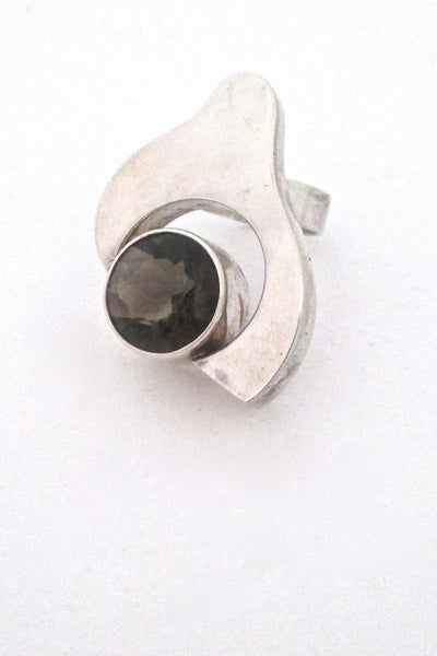 Salovaara Finland vintage modernist large ring at Samantha Howard Vintage
