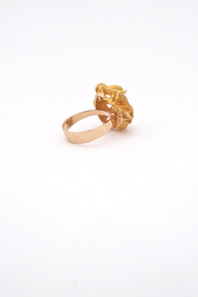 Lapponia 'large gold nugget' 14k gold ring ~ Bjorn Weckstrom