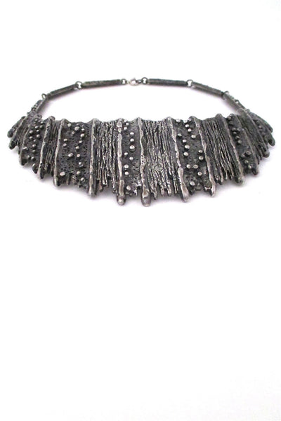 Guy Vidal Canada brutalist pewter rare large neck piece