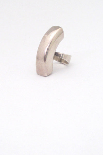 Georg Jensen large Modernist ring #157 ~ Astrid Fog