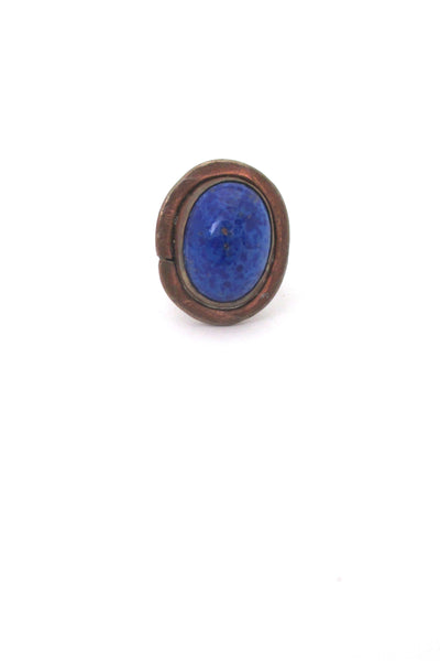 Rafael Canada copper & mottled blue ring