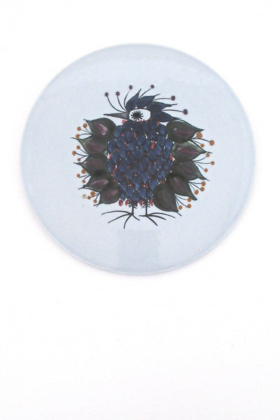 Royal Copenhagen Aluminia 'Crazy Bird' trivet / butter board
