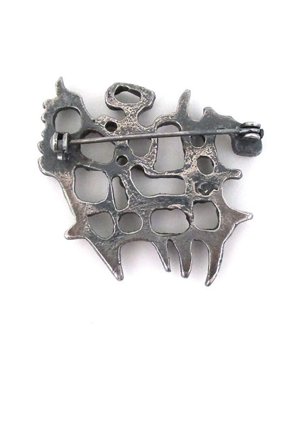 Guy Vidal openwork brooch