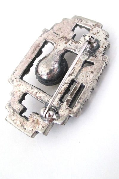 Robert Larin 'cubist smash' brooch