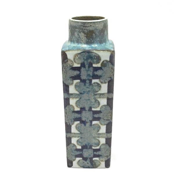 Royal Copenhagen faience 'Baca' geometric pillar vase ~ Nils Thorsson
