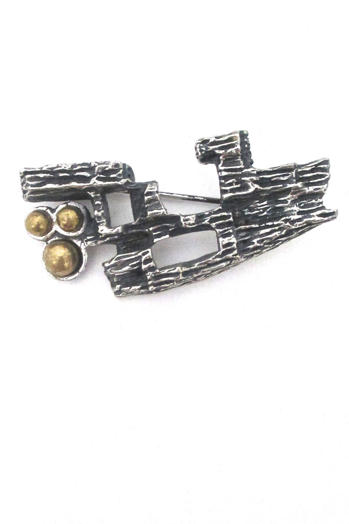 Robert Larin Canada vintage brutalist brooch at Samantha Howard Vintage