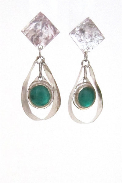 Rafael Alfandary, Canada sterling silver drop earrings