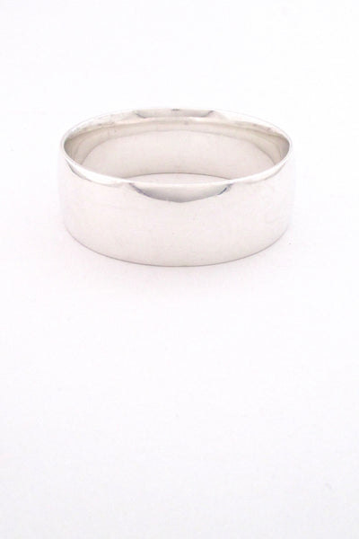 detal Georg Jensen Denmark vintage heavy silver wide bangle bracelet