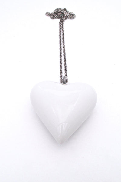 Royal Copenhagen 'big white heart' necklace - original chain