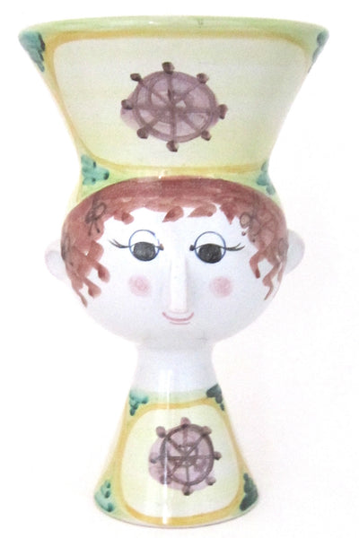 Wiinblad faience head vase