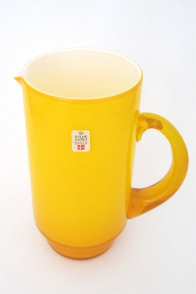 "Holmegaard, Denmark yellow cased glass ""Palet"" pitcher by Michael Bang"