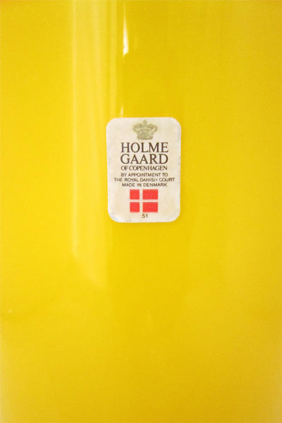 "Holmegaard yellow ""Palet"" pitcher"