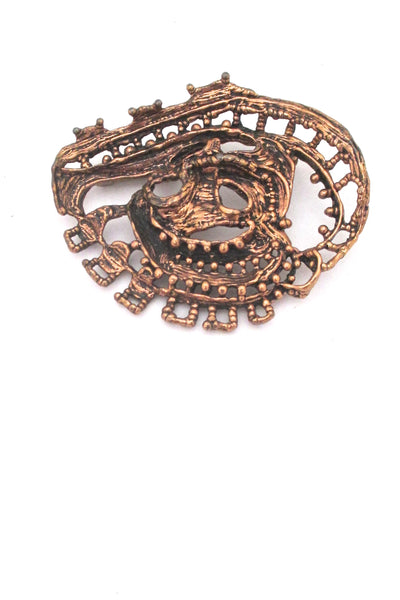 Studio Else & Paul large, sculptural bronze brooch