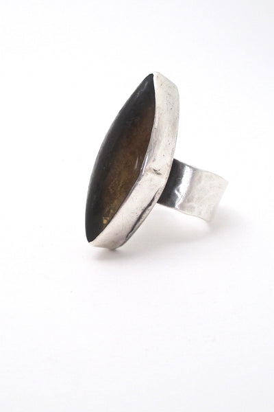 profile Rafael Alfandary Canada vintage extra large ring in sterling silver