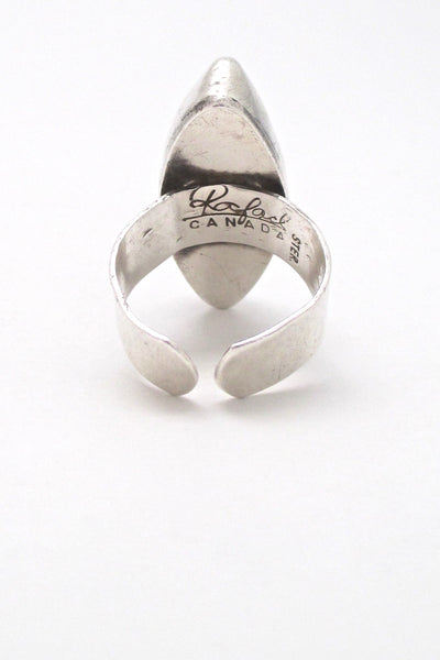 Rafael Canada large sterling silver ring
