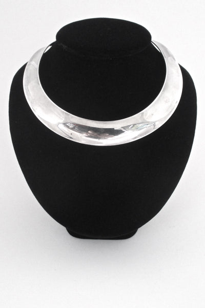 Ove Wendt for Andreas Mikkelsen wide silver choker