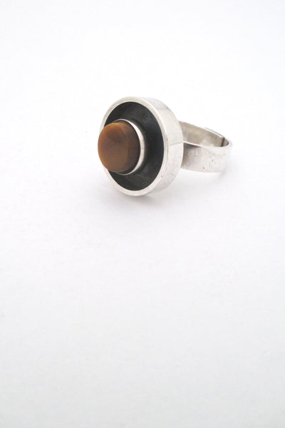 Elis Kauppi tiger eye shadow box ring