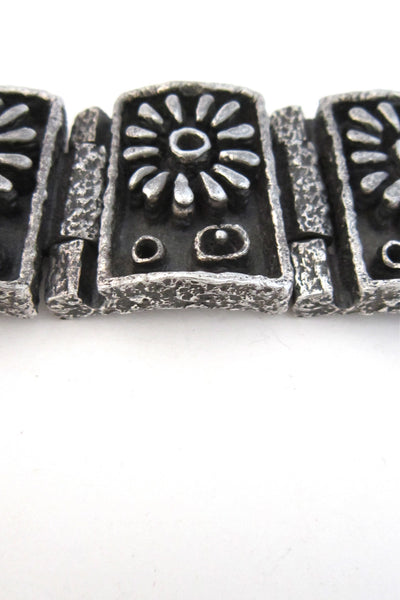 Guy Vidal Canadian Modernist massive pewter bracelet