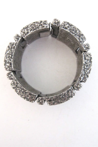 Guy Vidal massive 'brutalist daisy' shadow box bracelet