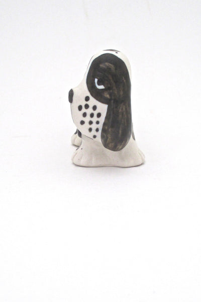 profile Lisa Larson Gustavsberg Sweden vintage ceramic Sleepy Spotted Spaniel Kennel 1972 series