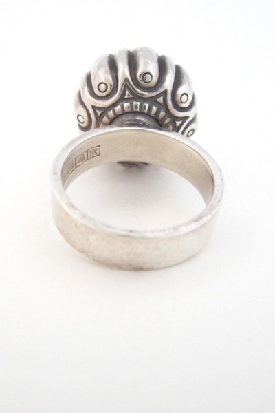 Kalevala Koru large dome silver ring