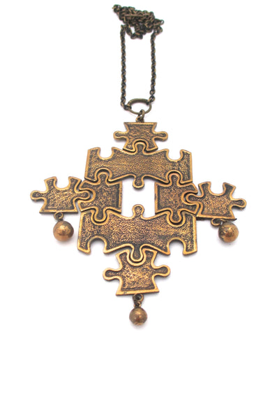 Pentti Sarpaneva extra large kinetic puzzle necklace