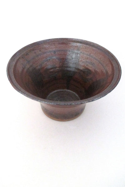 Helle Allpass Denmark hand thrown & decorated stoneware bowl