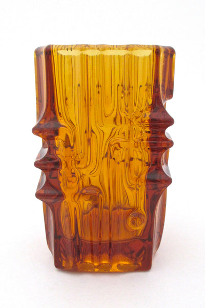 Sklo Union amber vase by Vladislav Urban