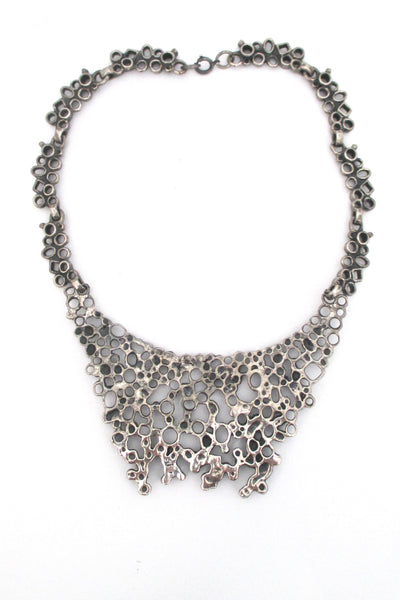 Robert Larin extra large brutalist bib necklace