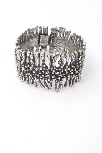 Guy Vidal sculptural hinged bracelet