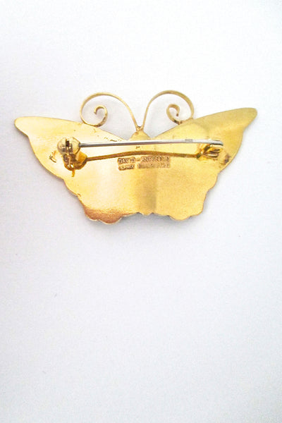 David-Andersen large enamel butterfly brooch