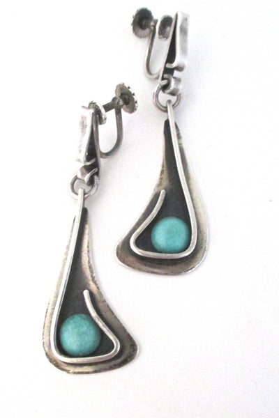 Henry Steig drop earrings at Samantha Howard Vintage