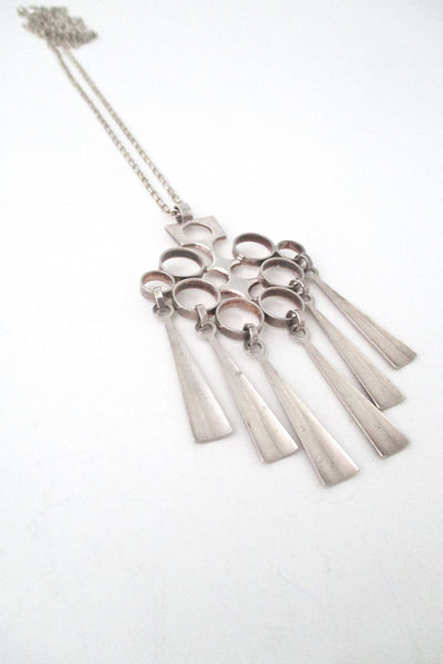 David Andersen Norway long Scandinavian modernist pendant necklace at Samantha Howard Vintage