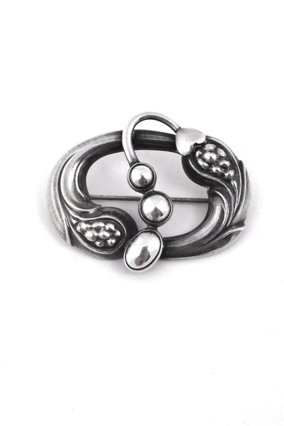 Georg Jensen Denmark vintage silver early brooch 77