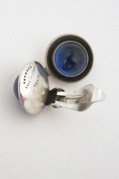 NE From Denmark vintage silver and blue earrings