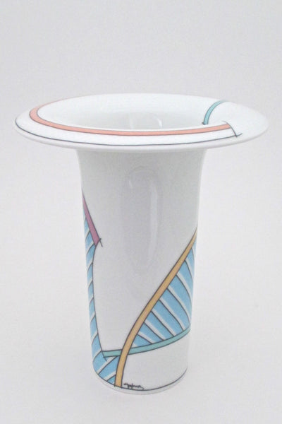 profile Tapio Wirkkala Dorothy Hafner Century New Wave medium vase for Rosenthal vintage post modern design