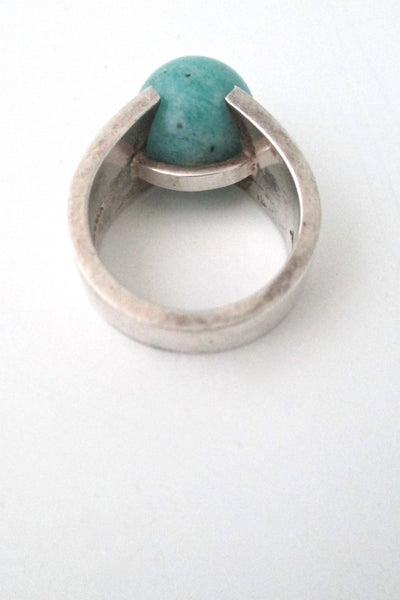 Hans Hansen amazonite sphere ring