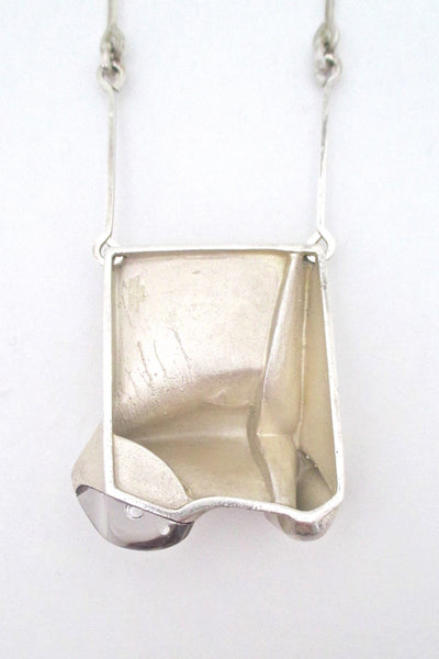 Bjorn Weckstrom extra large silver & acrylic 'Monolith' necklace