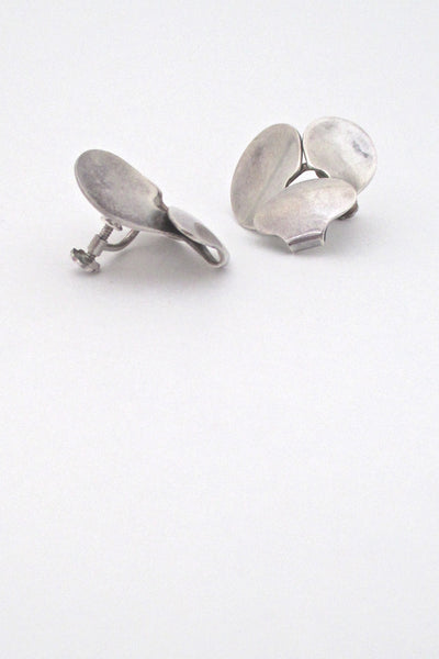 Georg Jensen earrings #166 - Ibe Dahlquist ~ rare