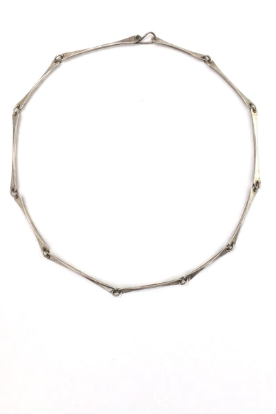 Ed Levin hammered silver long link chain