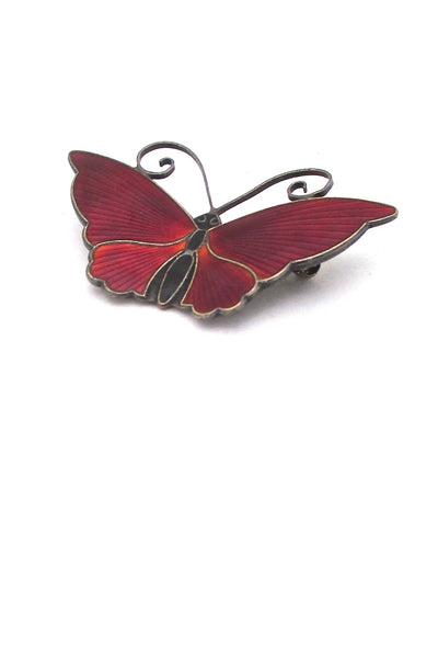 David Andersen large red butterfly brooch