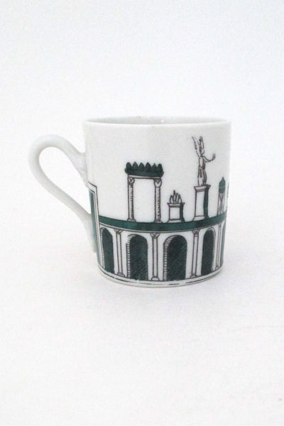 Fornasetti Italy vintage demitasse and saucer