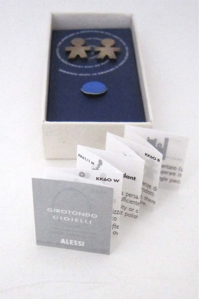 Alessi Italy sterling silver Girotondo earrings by King Kong
