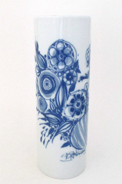 Bjorn Wiinblad for Rosenthal pale blue woman porcelain vase