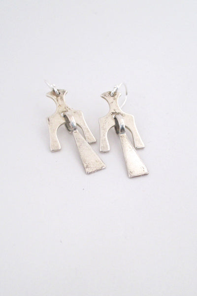 David-Andersen kinetic silver drop earrings