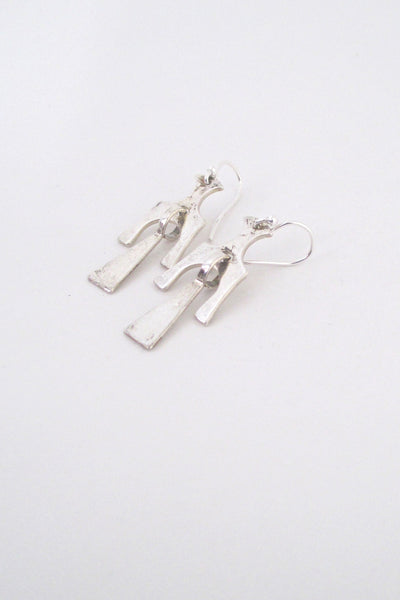 profile David Andersen Norway vintage Scandinavian Modern silver kinetic earrings