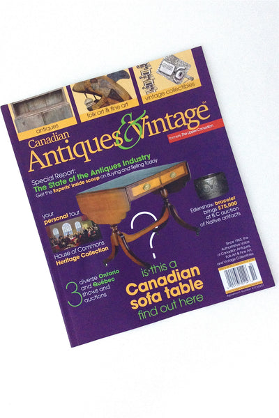 Samantha Howard Vintage on the cover of Canadian Antiques & Vintage